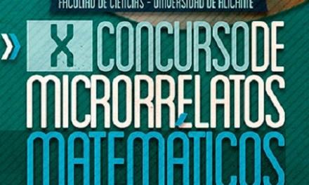 La Facultad de Ciencias de la Universidad de Alicante convoca el X Concurso de Microrrelatos Matemáticos con el número e
