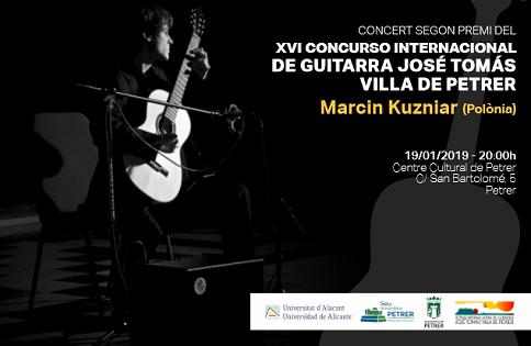Marcin Kuzniar ofereix dos concerts de guitarra a les seus universitàries de la UA de Petrer i de Benissa de la Universitat d'Alacant