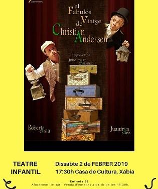 """""""El fabulós viatge de Christian Andersen"""" obri aquest dissabte el cicle de teatre infantil a Xàbia"""