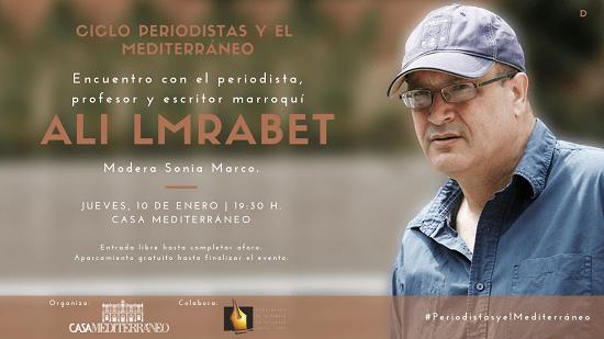El periodista marroquí Ali Lmrabet visita Casa Mediterráneo