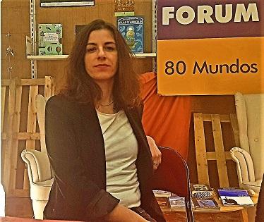 La dramaturga croata Vedrana Klepica en la llibreria 80 Mundos d'Alacant