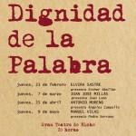 """Elvira Sastre, Juan José Millás, Antonio Moreno y Manuel Vilas, en el 4º ciclo literario """"La dignidad de la palabra"""" en Elche"""