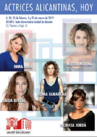 La Seu Ciutat d'Alacant dedica un cicle a les actrius alacantines d'avui