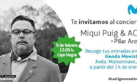 MOVISTAR+ porta a MIQUI PUIG amb Pilar Arejo a Las Cigarreras