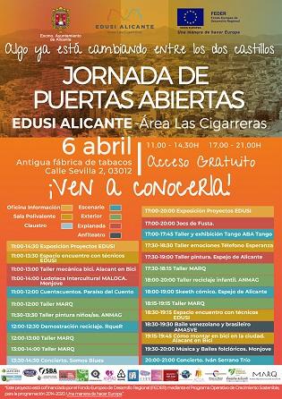 La Regidoria de Coordinació de Projectes trasllada la celebració de la Jornada de Portes Obertes EDUSI al 6 d'abril per risc de pluges