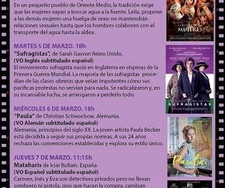 """El Ayuntamiento de Alicante invita a la ciudadanía a conmemorar un mes de marzo en tono violeta con el ciclo """"Mujeres en el cine"""""""