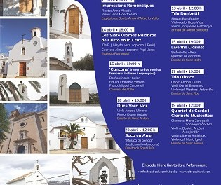De l'11 al 20 d'abril tindrà lloc una nova edició de Concerts a la Ruta de les Ermites