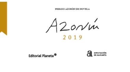 Deu novel·les finalistes amb temàtica diversa opten als 45.000 euros del 'Premi Azorín de Novel·la' de la Diputació d'Alacant i Editorial Planeta