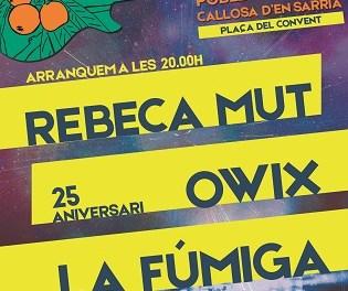 El Nyespro Rock celebrará su tercera edición el próximo 30 de marzo en la Plaza del Convent de Callosa d'en Sarrià