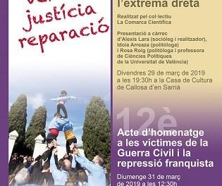 Actes per la recuperació de la memòria histórica a Callosa d'en Sarrià