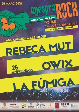 Compte arrere per a l'inici del festival de música en valencià Nyespro Rock