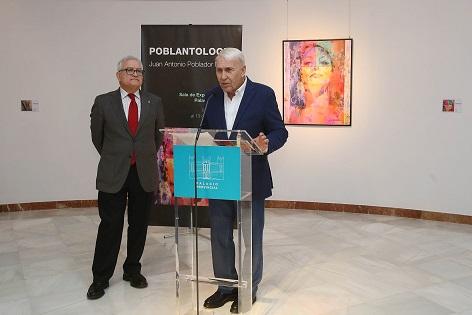 Una treintena de obras repasa la trayectoria del artista Juan Antonio Poblador en la nueva muestra del Palacio Provincial