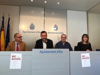 """Elx acollirà aquest dissabte el concert gratuït """"BIC Bands"""" amb 300 músics en homenatge a les bandes musicals de la Comunitat Valenciana"""