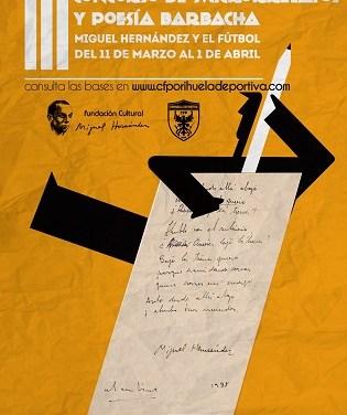 """Convocada la tercera edición del Concurso de microrrelatos y poesía """"Barbacha""""-Miguel Hernández y el Fútbol"""