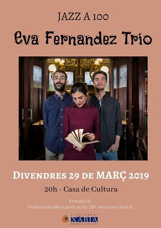 Els aficionats al jazz tenen aquest divendres una cita a Xàbia amb el trio liderat per la jove saxofonista i cantant Eva Fernández