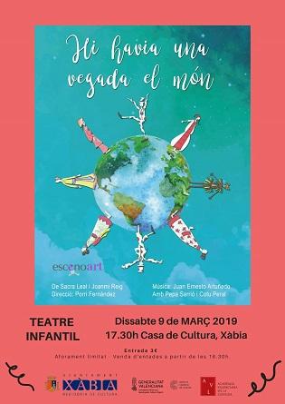 Una funció de teatre infantil i el concert dels Xirimitab's protagonitzen l'oferta cultural d'aquest cap de setmana a Xàbia
