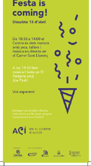 'Festa is coming' en Alcoy una iniciativa para revitalizar el centro de la ciudad