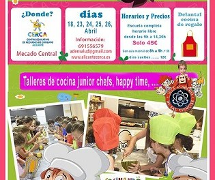 L'Ajuntament d'Alacant ofereix per a xiquets i xiquetes l'Escola de Pasqua 'Cuinant somriures' aquesta Setmana Santa a CERCA