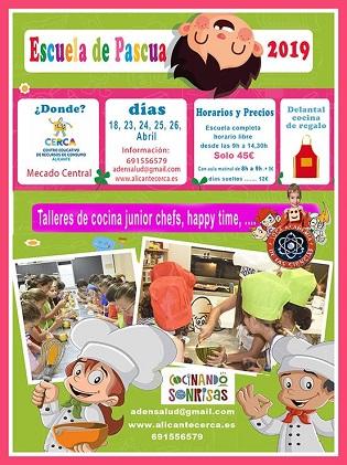El Ayuntamiento de Alicante ofrece para niños y niñas la Escuela de Pascua 'Cocinando sonrisas' esta Semana Santa en el CERCA