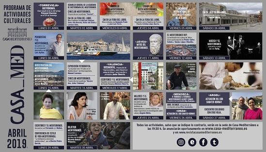 Casa Mediterráneo converteix Alacant en una de les 'tertúlies literàries' més importants d'Espanya amb la seua programació del mes d'abril