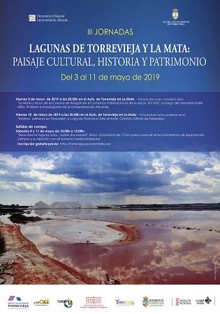 """La III Edición de las Jornadas """"Lagunas de Torrevieja y la Mata: paisaje cultural, historia y patrimonio"""" se celebrarán del 3 al 11 de mayo"""