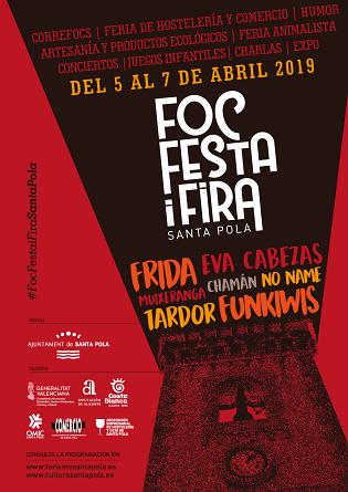 El FOC, FESTA I FIRA TORNA a Santa Pola per a omplir la Glorieta de música, espectacles i activitats