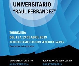 Torrevella acull la primera mostra de teatre universitari «Raúl Ferrández»