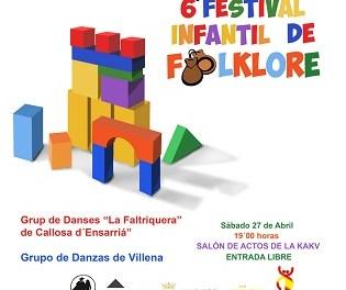 Aquest dissabte se celebra la 6a edició del Festival Infantil de Folklore