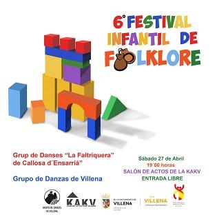 Este sábado se celebra la 6ª edición del Festival Infantil de Folklore