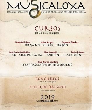 El festival de música antiga Musicaloxa tornarà a Callosa d'en Sarrià del 23 al 30 d'agost