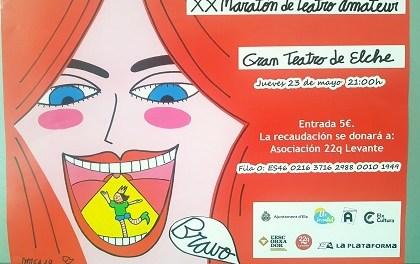 El Gran Teatre acollirà la XX Marató de Teatre Amateur d'Elx el dijous 23 de maig