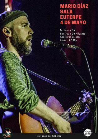 Conciertos de Isma Romero y Mario Díaz en la Sala Euterpe de Sant Joan este fin de semana