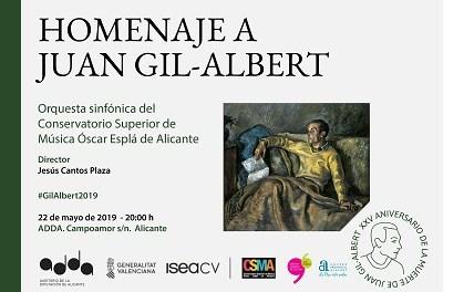 L'Institut Juan Gil-Albert i el Conservatori Óscar Esplá s'uneixen per a fer un homenatge a la figura de l'escriptor alcoià