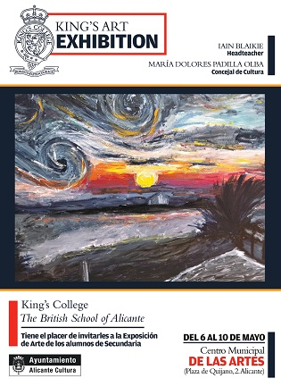 Estudiants de secundària de King's College Alacant exhibeixen les seues obres en el Centre Municipal de les Arts