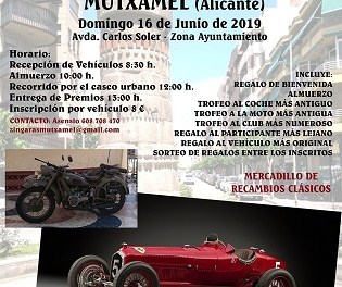 1ª Concentración de coches y motos clásicos e históricos en Mutxamel