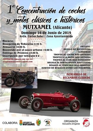 1a Concentració de cotxes i motos clàssics i històrics a Mutxamel