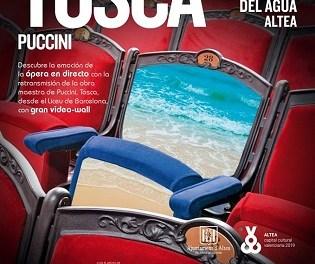 La plaça de l'Aigua de Altea proyectará el viernes la ópera 'Tosca' de Puccini que tendrá lugar en el Liceo de Barcelona
