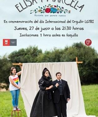 El Teatre Castelar d'Elda s'uneix als actes del Dia Internacional de l'Orgull LGTBI amb la representació de 'Elisa i Marcela'