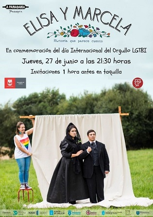 El Teatro Castelar de Elda se une a los actos del Día Internacional del Orgullo LGTBI con la representación de 'Elisa y Marcela'