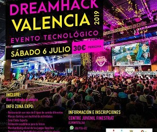 """Joventut de Finestrat organitza una visita al festival """"Dreamhack València """" per al dissabte 6 de juliol"""