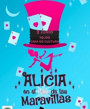 """Aquest diumenge arriba """"Alicia en el Pais de les Meravelles"""" a la Casa de Cultura de Finestrat amb el taller infantil """"Arteatro"""""""