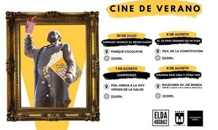 El cinema d'estiu torna a Elda durant els mesos de juliol i agost