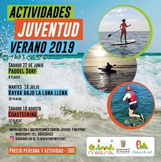 Últimas plazas en Finestrat para participar en la excursión en kayak bajo la luna del próximo martes 16 de julio