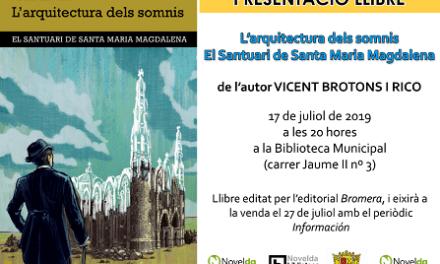 La Biblioteca de Novelda acoge la presentación de la novela L'Arquitectura dels somnis