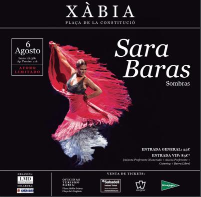 Sara Baras por primera vez en Xàbia