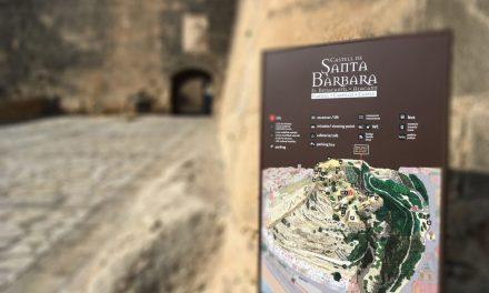 Els panells informatius del Castell de Santa Bàrbara d'Alacant es podran llegir en cinc idiomes després de la seua renovació