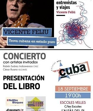 El trovador cubano Vicente Feliu ofrecerá un concierto este miércoles en l'Alfàs del Pi