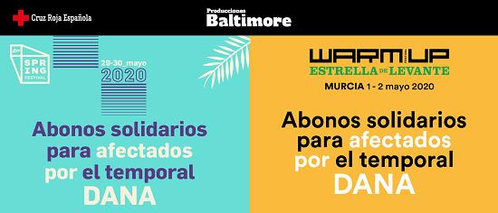 Produccions Baltimore se solidaritza amb els afectats per la DANA i posa a la venda abonaments solidaris per a WARM UP i Spring Festival
