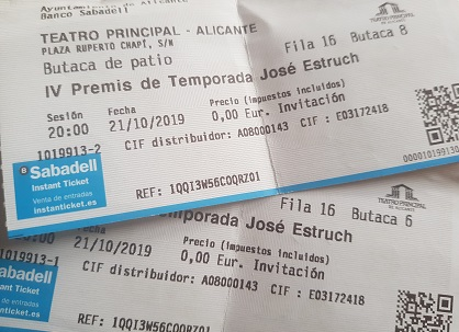 El Teatre Principal et Convida a la «IV Gala de Premis José Estruch 2019»