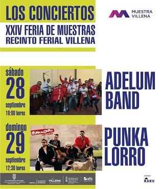 Conciertos de Adelum y Punkalorro este fin de semana en la Muestra Villena 2019